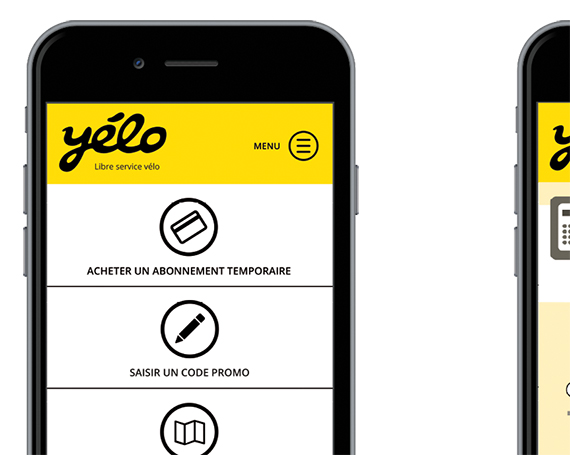 Application Yelo / service de location de vélo